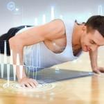 トレーニングする男性とその効果