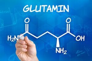 グルタミンの分子構造