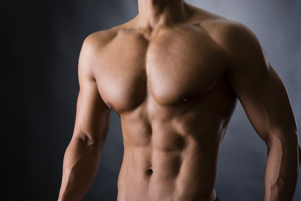 プロ並みの筋肉の身体