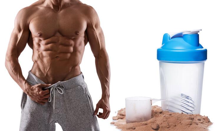 プロテインと筋肉質な体