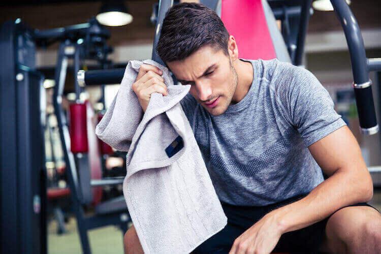 トレーニング中の発汗